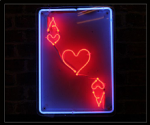 ACE OF HEARTS Neon Sign